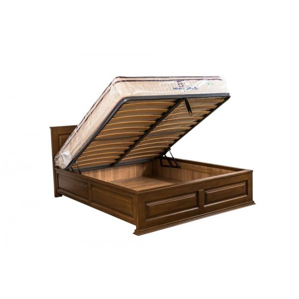 Pat cu lada de depozitare-lemn de frasin